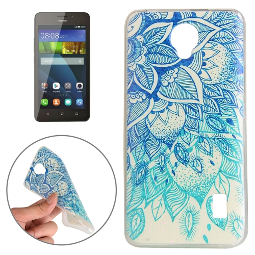 Buy Huawei Y635 Blue Leaves Pattern TPU Protective Case for $1.02 in SUNSKY store