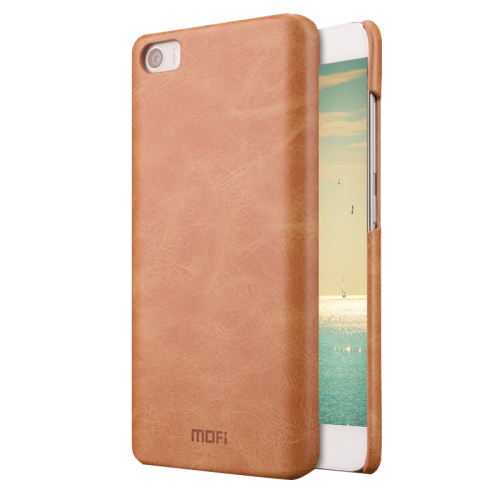 Buy MOFI Xiaomi Mi 5 Crazy Horse Texture Leather Surface PC Protective Case Back Cover, Brown for $3.70 in SUNSKY store