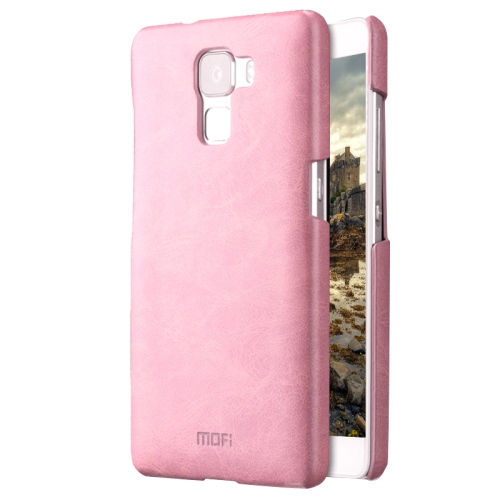 Buy MOFI Huawei Honor 7 Crazy Horse Texture Leather Surface PC Protective Case Back Cover, Pink for $3.54 in SUNSKY store