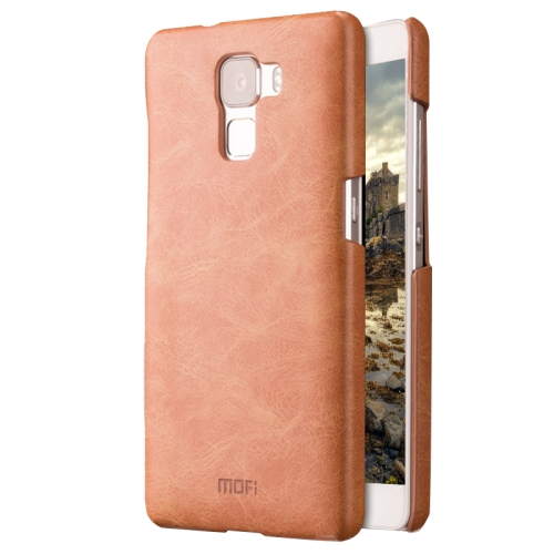 MOFI Huawei Honor 7 Crazy Horse Texture Leather Surface PC Protective Case Back Cover, Brown