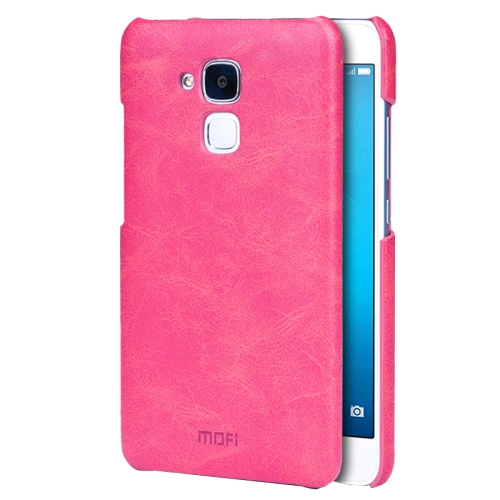 Buy MOFI Huawei Honor 5C Crazy Horse Texture Leather Surface PC Protective Case Back Cover, Magenta for $3.54 in SUNSKY store