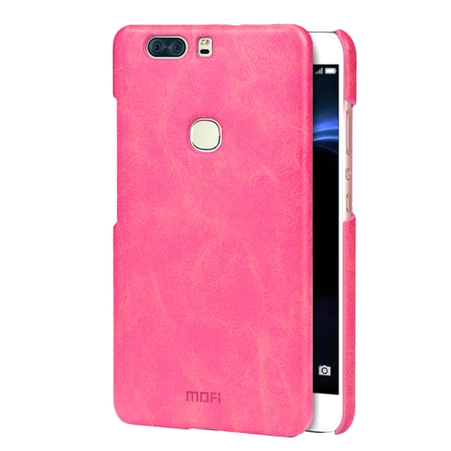 Buy MOFI Huawei Honor V8 Crazy Horse Texture Leather Surface PC Protective Case Back Cover, Magenta for $3.76 in SUNSKY store