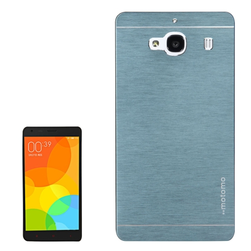 Buy Xiaomi Redmi 2 Motomo Brushed Texture Metal Protective Back Case (Dark Blue) for $1.27 in SUNSKY store