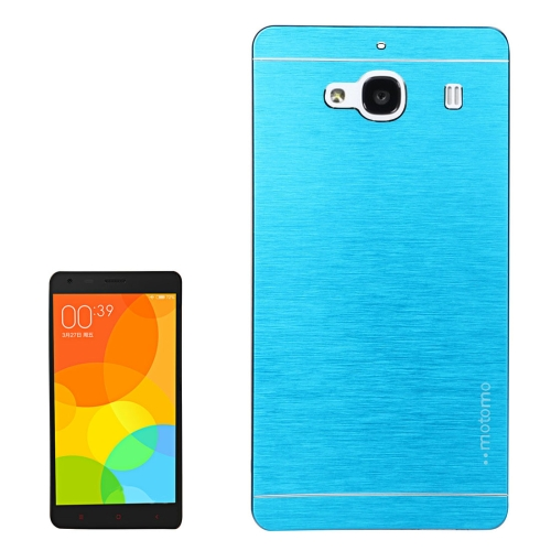 Buy Xiaomi Redmi 2 Motomo Brushed Texture Metal Protective Back Case, Blue for $1.27 in SUNSKY store