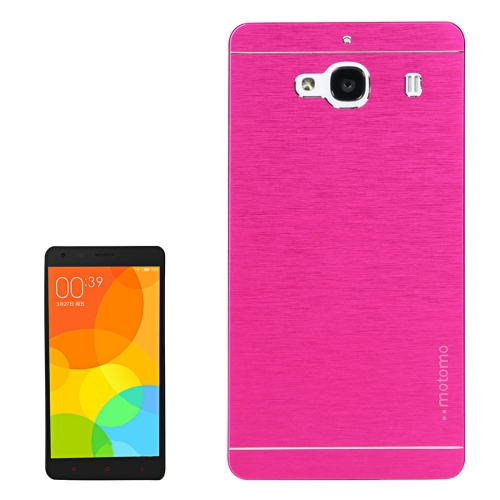 Buy Xiaomi Redmi 2 Motomo Brushed Texture Metal Protective Back Case, Magenta for $1.27 in SUNSKY store