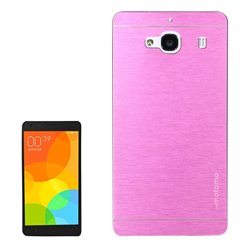 Buy Xiaomi Redmi 2 Motomo Brushed Texture Metal Protective Back Case, Purple for $1.27 in SUNSKY store
