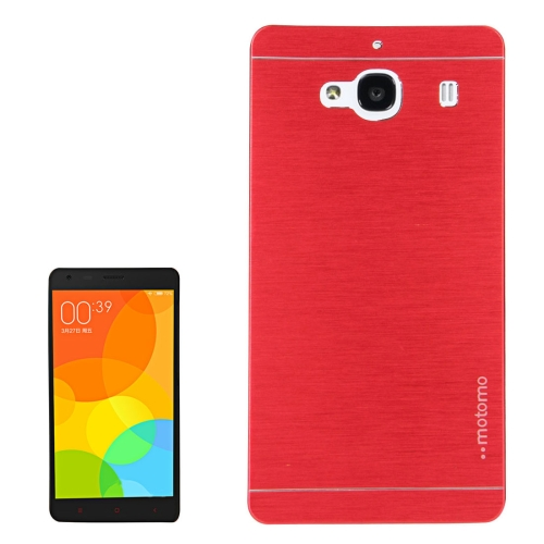 Buy Xiaomi Redmi 2 Motomo Brushed Texture Metal Protective Back Case, Red for $1.27 in SUNSKY store