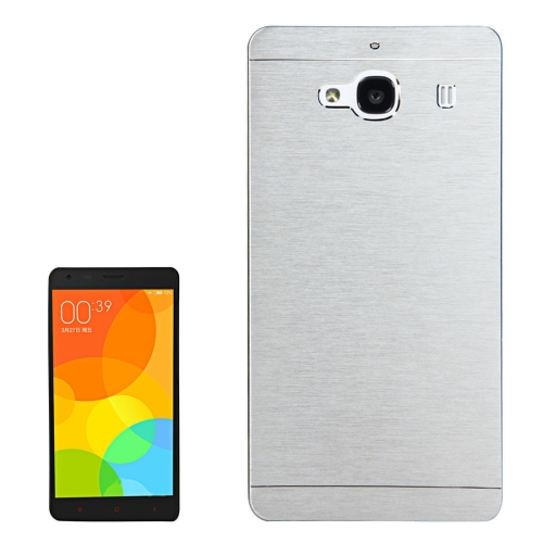 Buy Xiaomi Redmi 2 Motomo Brushed Texture Metal Protective Back Case, Silver for $1.27 in SUNSKY store