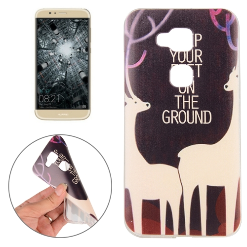 Huawei G8 Sika Deer Words Pattern TPU Protective Case