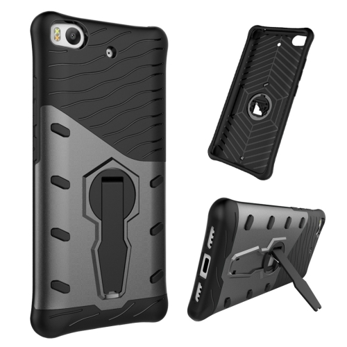 Buy For Xiaomi 5s Shock-Resistant 360 Degree Spin Tough Armor TPU+PC Combination Case with Holder, Black for $2.46 in SUNSKY store