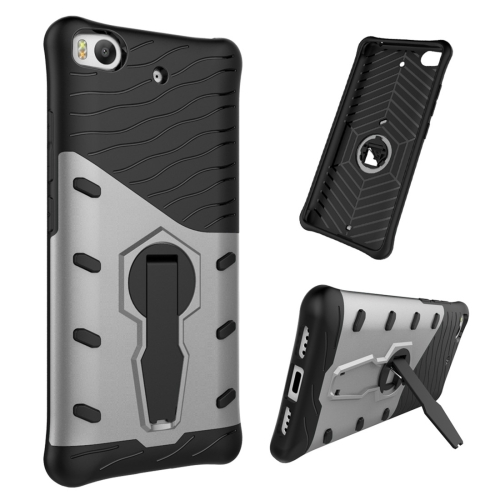 Buy For Xiaomi 5s Shock-Resistant 360 Degree Spin Tough Armor TPU+PC Combination Case with Holder, Grey for $2.46 in SUNSKY store