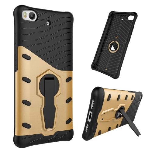 Buy For Xiaomi 5s Shock-Resistant 360 Degree Spin Tough Armor TPU+PC Combination Case with Holder, Gold for $2.46 in SUNSKY store