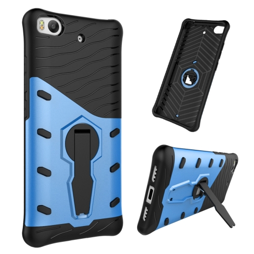 Buy For Xiaomi 5s Shock-Resistant 360 Degree Spin Tough Armor TPU+PC Combination Case with Holder, Blue for $2.46 in SUNSKY store