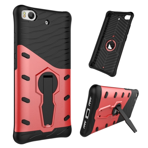 For Xiaomi 5s Shock-Resistant 360 Degree Spin Tough Armor TPU+PC Combination Case with Holder, Red