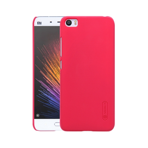 Buy NILLKIN Frosted Shield Xiaomi Mi 5 Concave-convex Texture PC Protective Case Back Cover, Red for $3.85 in SUNSKY store