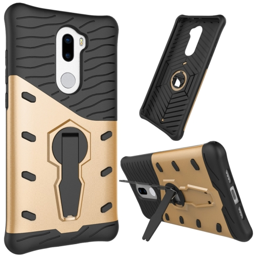 Buy For Xiaomi 5s Plus Shock-Resistant 360 Degree Spin Tough Armor TPU+PC Combination Case with Holder, Gold for $2.46 in SUNSKY store