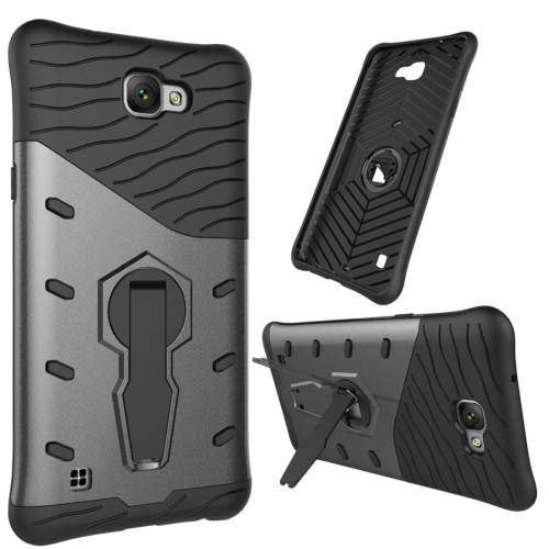 Buy For LG X max Shock-Resistant 360 Degree Spin Tough Armor TPU + PC Combination Case with Holder, Black for $2.46 in SUNSKY store