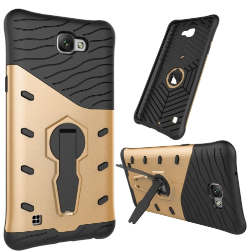 Buy For LG X max Shock-Resistant 360 Degree Spin Tough Armor TPU + PC Combination Case with Holder, Gold for $2.46 in SUNSKY store