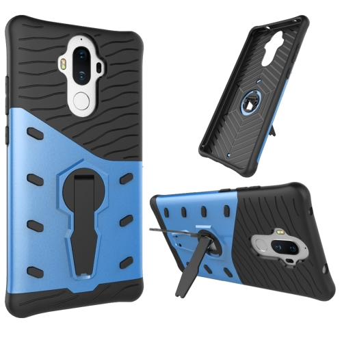 Buy Huawei Mate 9 Shock-Resistant 360 Degree Spin Sniper Hybrid Case TPU + PC Combination Case with Holder, Blue for $2.46 in SUNSKY store