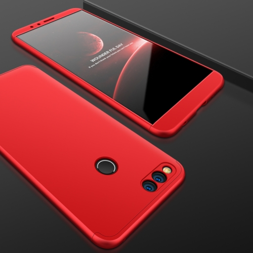 GKK for Huawei Honor 7X PC 360 Degrees Full Coverage Protective Case Back Cover(Red)