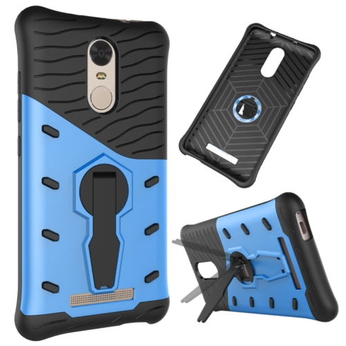 Buy Xiaomi Redmi Note 3 Shock-Resistant 360 Degree Spin Tough Armor TPU+PC Combination Case with Holder, Blue for $2.41 in SUNSKY store