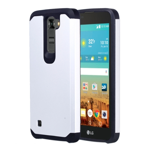 Buy For LG K7 Corselet TPU + PC Combination Protective Case, Silver for $2.07 in SUNSKY store