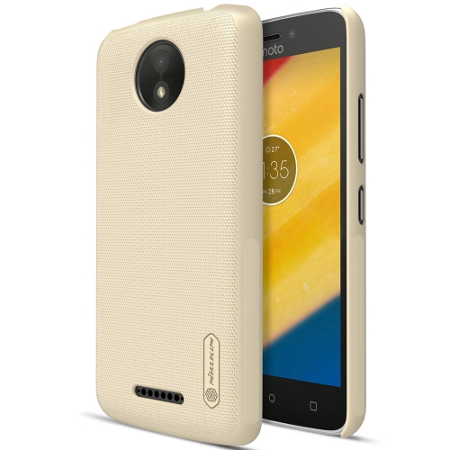 Buy NILLKIN Frosted Shield for Motorola Moto C Plus Concave-convex Texture PC Protective Case Back Cover, Gold for $3.84 in SUNSKY store