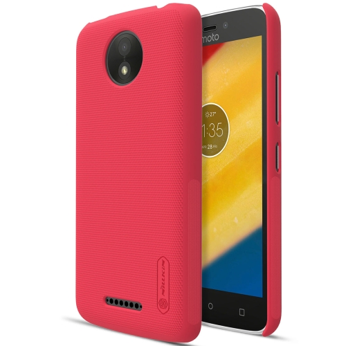 Buy NILLKIN Frosted Shield for Motorola Moto C Plus Concave-convex Texture PC Protective Case Back Cover, Red for $3.85 in SUNSKY store