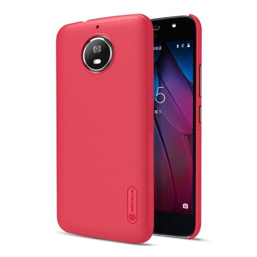 Buy NILLKIN Frosted Shield for Motorola Moto G5S Concave-convex Texture PC Protective Case Back Cover, Red for $3.85 in SUNSKY store