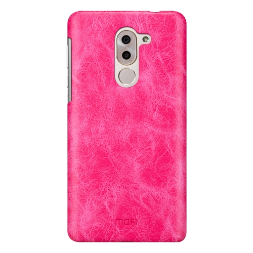 Buy MOFI Huawei Honor 6X Crazy Horse Texture Leather Surface PC Protective Case Back Cover, Magenta for $3.75 in SUNSKY store