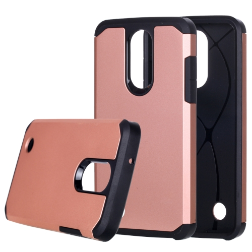 Buy For LG Aristo Corselet TPU + PC Rugged Armor Combination Protective Case (Rose Gold) for $2.16 in SUNSKY store