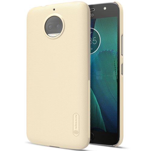 Buy NILLKIN for Motorola Moto G5S Plus Concave-convex Texture PC Protective Case Back Cover, Gold for $3.85 in SUNSKY store