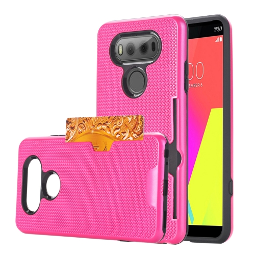 Buy For LG V20 Dream Network Dropproof Protective Back Cover Case with Card Slots, Magenta for $2.28 in SUNSKY store