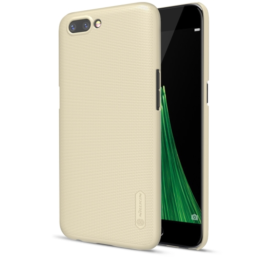 Buy NILLKIN Frosted Shield for OPPO R11 Concave-convex Texture PC Protective Case Back Cover, Gold for $3.85 in SUNSKY store