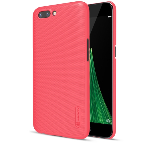 NILLKIN Frosted Shield for OPPO R11 Concave-convex Texture PC Protective Case Back Cover, Red