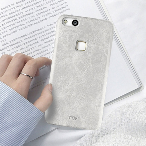 MOFI Huawei nova Lite Crazy Horse Texture Leather Surface PC Protective Back Cover Case, White