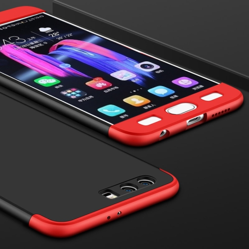 Buy GKK Huawei Honor 9 PC Three paragraph Shield 360 Degrees Full Coverage Protective Case Back Cover (Black + Red) for $2.85 in SUNSKY store