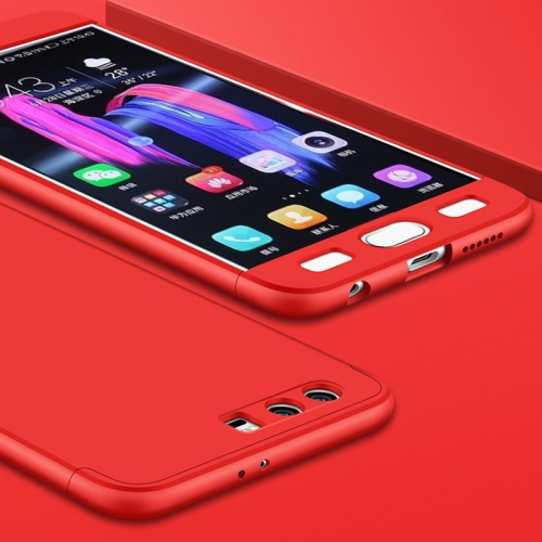 Buy GKK Huawei Honor 9 PC Three paragraph Shield 360 Degrees Full Coverage Protective Case Back Cover, Red for $2.91 in SUNSKY store