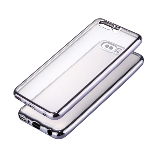 Buy Huawei P10 Plus Electroplating Frame Soft TPU Protective Case, Grey for $1.16 in SUNSKY store