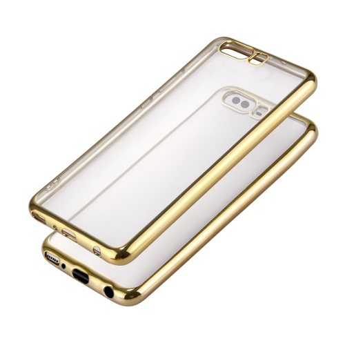 Buy Huawei P10 Plus Electroplating Frame Soft TPU Protective Case, Gold for $1.16 in SUNSKY store