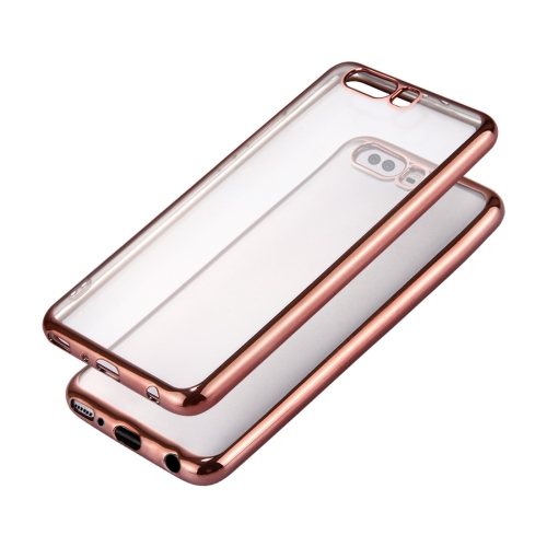 Buy Huawei P10 Plus Electroplating Frame Soft TPU Protective Case (Rose Gold) for $1.16 in SUNSKY store