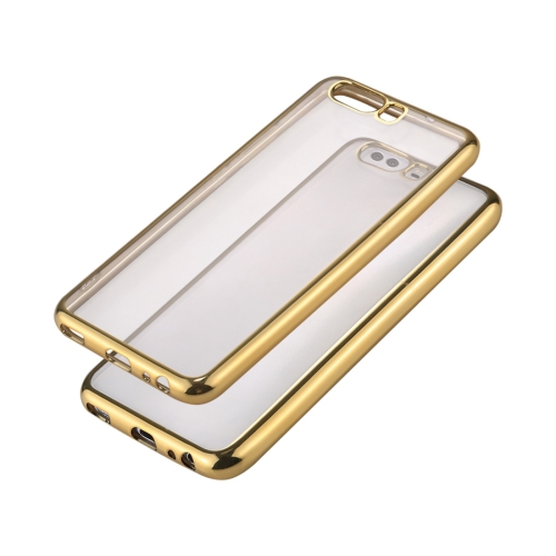 Buy Huawei P10 Electroplating Frame Soft TPU Protective Case, Gold for $1.16 in SUNSKY store