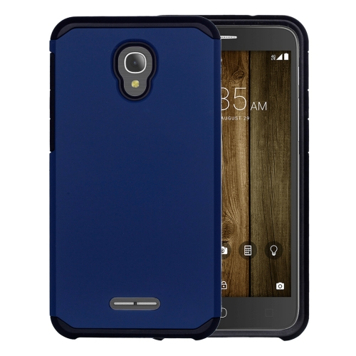 Buy For Alcatel Fierce 4 Corselet TPU + PC Combination Back Case (Dark Blue) for $2.17 in SUNSKY store