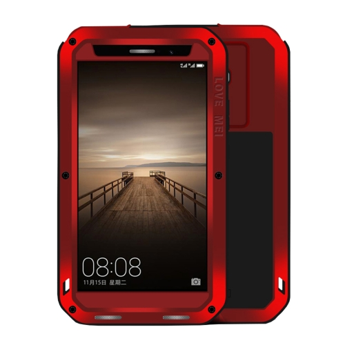 Buy LOVE MEI Huawei Mate 9 Professional and Powerful Dustproof Shockproof Anti-slip Metal + Silicone Combination Case, Red for $18.52 in SUNSKY store