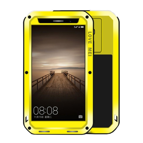 Buy LOVE MEI Huawei Mate 9 Professional and Powerful Dustproof Shockproof Anti-slip Metal + Silicone Combination Case, Yellow for $18.53 in SUNSKY store
