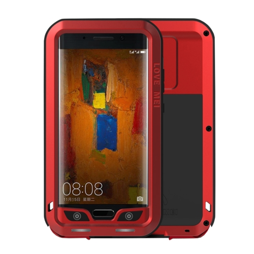 Buy LOVE MEI Huawei Mate 9 Pro Professional and Powerful Dustproof Shockproof Anti-slip Metal + Silicone Combination Case, Red for $18.74 in SUNSKY store