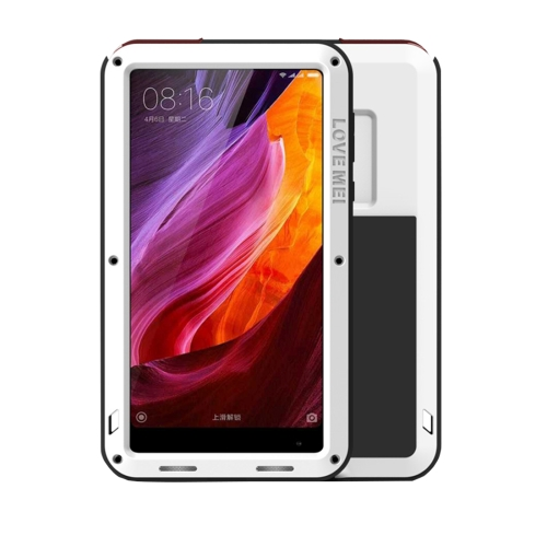Buy LOVE MEI Xiaomi Mi Mix Professional and Powerful Dustproof Shockproof Anti-slip Metal + Silicone Combination Case, White for $18.45 in SUNSKY store