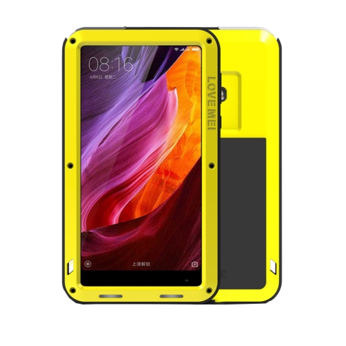 Buy LOVE MEI Xiaomi Mi Mix Professional and Powerful Dustproof Shockproof Anti-slip Metal + Silicone Combination Case, Yellow for $18.45 in SUNSKY store