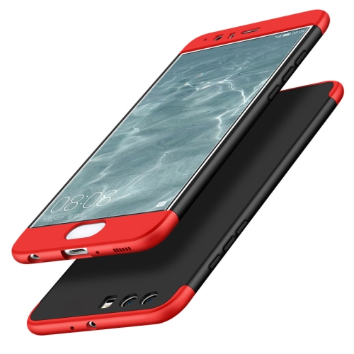 Buy GKK Huawei P10 Plus PC Three paragraph Shield 360 Degrees Full Coverage Protective Case Back Cover (Black + Red) for $2.79 in SUNSKY store