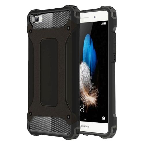 For Huawei P8 Lite Tough Armor TPU + PC Combination Case(Black)